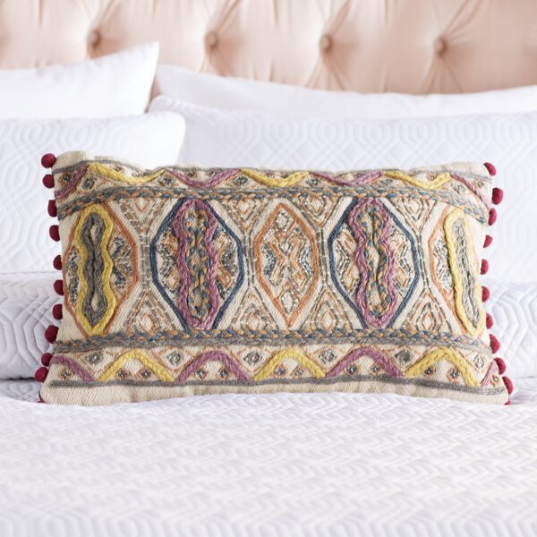 Fressia Geometric 100% Cotton Lumbar Pillow Cover by Mistana